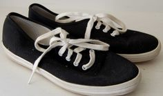 Womens KEDS Tennis Shoes SNEAKERS Black White Lace Up 6 CANVAS Original Oxford #Keds #TennisShoes #Casual
