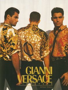 Versace available at Luxury Vintage Madrid bring you the worlds best selection of vintage and contemporary clothing discover our luxury brands Express delivery Worldwide ! Versace Fashion, Versace Men, Gianni Versace, Luxury Fashion, Mens Fashion, Fashion 2018, Americana Vintage, Vintage Outfits, Vintage Fashion