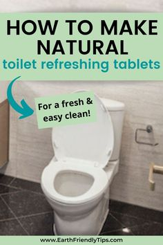 Sometimes toilets just need to freshen up a little between cleanings. That's when you can use these easy and natural homemade toilet refreshing tablets. These DIY toilet refreshing tablets only require 3 simple ingredients, yet they're powerful enough to help quickly and easily deodorize your toilet. #ecofriendly #natural #cleaning #homemade #DIY Homemade Cleaning Products, Cleaning Hacks, Clean All The Things, Eco Friendly House, How To Make Homemade, Toilets, Natural, Simple, Easy