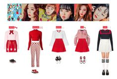 """RED VELVET - ROOKIE❤"" by vvvan99 ❤ liked on Polyvore featuring Prada, Alice + Olivia, VIVETTA, Love Moschino, Marc by Marc Jacobs, Stance, J.W. Anderson, Dr. Martens, Barbara Bui and Miu Miu"