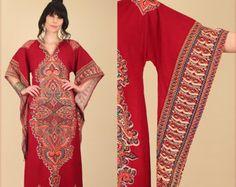 Dashiki Maxi Dress ViNtAgE 60's 70's by hellhoundvintage on Etsy