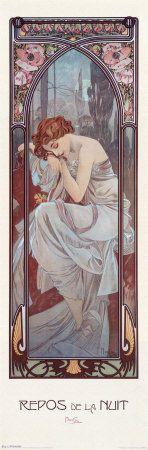 Repos de la Nuit  Alphonse Mucha on my wall...