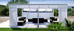 #Piscina Desmontable de 550x366x120cm en una Terraza Chillout. Bajo coste y resultado espectacular.