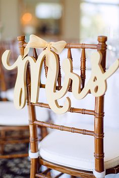 202 Incredible DIY Bridal Shower Decorations on a Budget - About-Ruth Wedding Chair Signs, Wedding Chairs, Wedding Reception Table Decorations, Bridal Shower Decorations, Wedding Ideias, Diy Wedding, Sweetheart Table Decor, Ideias Diy, Mr And Mrs Wedding