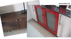 install a wood laminate on your cabinets