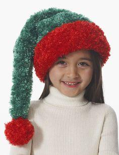Knit this fun and fluffy Santa hat this Christmas.