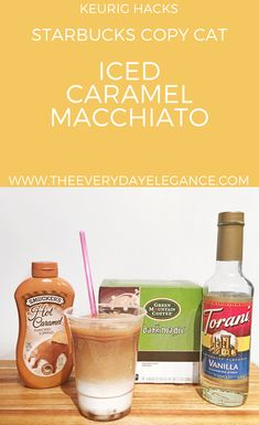 Ice Caramel Macchiato at home (with a keurig!)