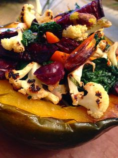 glutenfreehappytummy: Jewel Stuffed Acorn Squash! GF, V, SCD & Paleo!