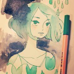 Playing with melty pen ink maruti_bitamin - @maruti_bitamin