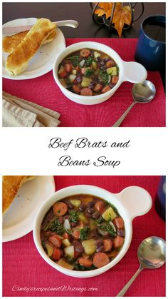 Beef Brats and Beans Soup #SundaySupper