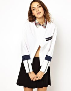 Loving this shirt - nice way to wear the plaid trend subtly