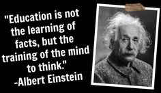 Albert Einstein Education quote via www.Facebook.com/SkillShare
