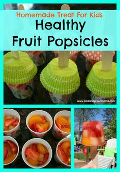 Healthy Fruit Popsicles from Pink and Green Mama