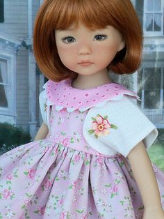 "DRESS, HAT and BOLERO for Dianna Effner Little Darlings / Clothes for 13"" Dolls"
