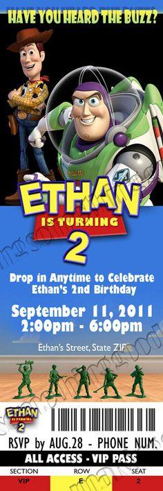 Toy Story Birthday Party Ticket Invitation  by MakingSomethingGood, $10.00