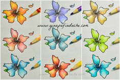 Atelier Gina Pafiadache  I share with you a simple way to paint with pencil misturinha Faber-Castell.