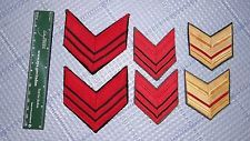 Lot of 6 Genuine Italian WWII Era enlisted shoulder rank insignia patches