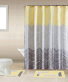 Sonia Yellow & Gray Multi-Tone 15-Piece Bathroom Accessor...