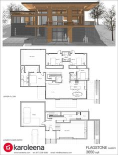 Check out these custom home designs. View prefab and modular modern home design ideas by Karoleena. Modern House Plans, Small House Plans, Modern House Design, House Floor Plans, Small Prefab Homes, Casas Containers, Custom Home Designs, Custom Homes, Container House Design