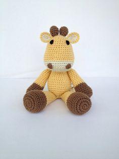 Crochet Giraffe Stuffed Animal by YouHadMeAtCrochet