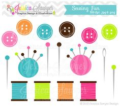 INSTANT DOWNLOAD, cute sewing clipart, button clip art, button graphic, for scrapbooking, logos, printables