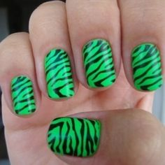 Eek I <3 neon green with zebra stripes