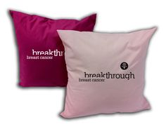"Poplin Throw Cushion, 12x12...When lugging around a bulky chair isn't ideal, take a seat on this poplin throw cushion instead. Measuring 12"" x 12"", this plush pillow provides a comfortable seat while displaying a message of hope and inspiration for warriors fighting the battle against breast cancer. The poly-cotton pillow has enough room for a 10"" x 10"" custom imprint. Blank product."