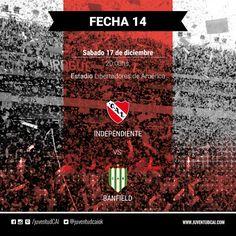 HOY INDEPENDIENTE #Independiente recibe a Banfield por la fecha 14 del torneo. #VamosRojo!