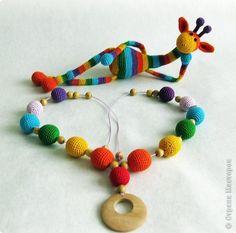 Игрушка Вязание крючком Слингобусы Радуга + Жираф Нитки фото 3