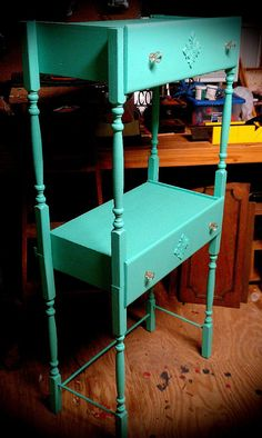 Painted Vintage Shelf Repurposed Dresser Drawers Spindles Painted Furniture