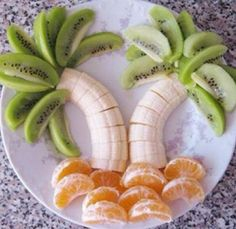 This was so very cute and an easy way to serve fruit at our beach themed party! :)