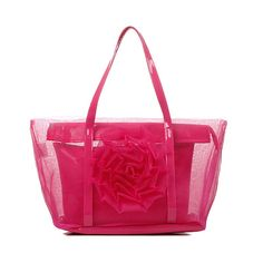 2014 Rose Transparent Bags Candy Color Jelly Bags Crystal Beach Bag WEMIRO $45.27