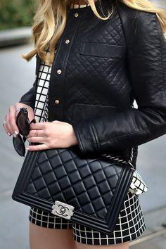 Chanel Boy Bag + Biker Jacket, Zara, Oh My Vogue