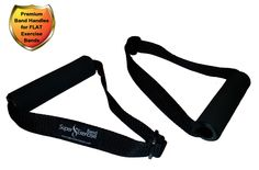 Super Exercise Flat Resistance Band Handles make handling a flatband workout much easier.  http://www.amazon.com/dp/B00UUG39NO