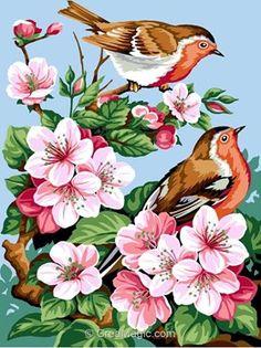 Canevas à réaliser soi-même au demi point sur une toile imprimée pénélope de chez SEG Référence  926-339 : Taille du dessin : 30 x 40 cm, Dimension de la toile 40 x 50 cm.