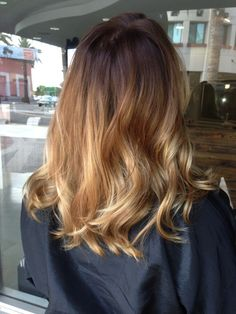 straight hair balayage | Ombre Balayage Hair Color