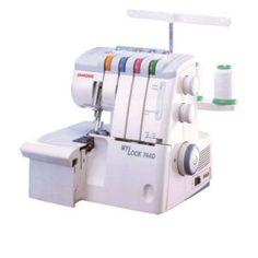 Overlock Mylock 744D. Puede coser con 2,3 o 4 hilos. Largo de puntada regulable de 1 a 5mm. Posee brazo libre para costuras tubulares, 1300 a 1500 puntadas por minuto!