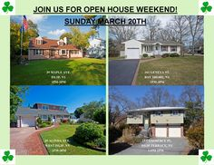 OPEN HOUSE WEEKEND!! SUNDAY MARCH 20TH!! WALK OFF THE IRISH FESTIVITY'S & JOIN US FOR THESE AWESOME OPEN HOUSE MUST SEES!!  39 MAPLE AVE. http://www.obeo.com/1072396 39 ALINDA AVE. http://www.obeo.com/1052672  161 GENEVA ST. http://www.obeo.com/1095673 15 COMMERCE PL http://www.obeo.com/1095673
