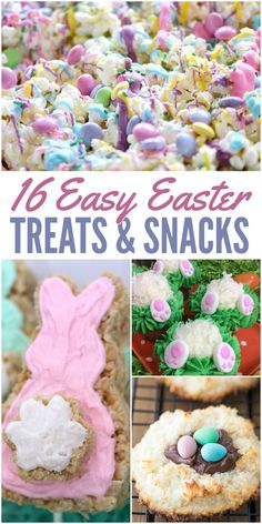 Kids will love these easy Easter treats and snacks - from cute cupcakes to yummy salty/sweet popcorn combinations! Easter treats 16 Easy Easter Treats and Snacks - Glue Sticks and Gumdrops Easter Snacks, Easter Candy, Easter Brunch, Easter Treats, Easter Recipes, Easter Desserts, Easter Food, Easter Peeps, Easter Decor