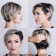 Moderner Pixie Haarschnitt