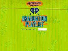 """PHOTO: iHeartRadio just launched GraduationPlaylist.com, a microsite where users can access a """"Class Of"""" playlist for every graduation class from 1950 through 2018. Big Songs, Graduation Year, Acting Tips, Spelling, Memories, Teaching, Feelings, Music, Musica"""