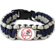 2017 Hot New MLB Baseball Fans NY Yankees Charm Paracord Survival Bracelet Friendship Outdoor Camping Bracelet 6pcs/lot