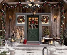 Front porch christmas decor | ... extend the outdoor decor to the porch and front yard. Christmas. Beautiful!