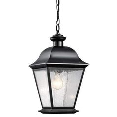 Kichler Mount Vernon Single Light Outdoor Pendant - Black