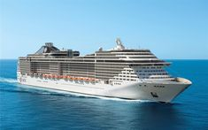 MSC Divina, prime prove in mare in attesa del varo Croisière Royal Caribbean, Bon Plan Paris, Msc Poesia, Cruiser Boat, Msc Cruises, Vacations To Go, Merchant Navy, Cruise Destinations, Boat Painting