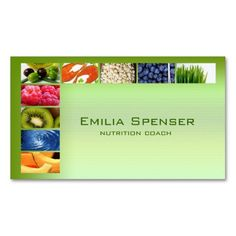 Pastel Green Healthy Life/Nutritionist Card Double-Sided Standard Business Cards (Pack Of 100)