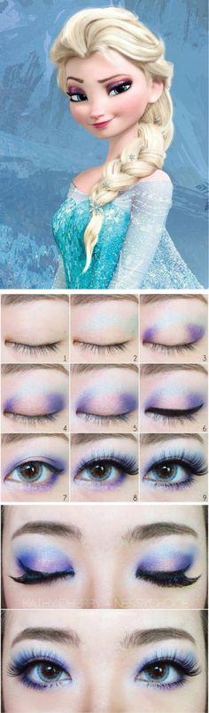 Elsa eye make up