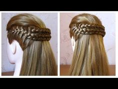 Coiffure facile à faire soi même avec tresse Coiffure simple pour cheveux mi long - YouTube