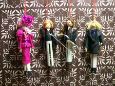 The Hunger Games Clothespin Dolls by Hoopdeeloo on Etsy, $60.00