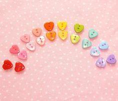 Resin Heart Buttons 12x11mm #craft #buttons